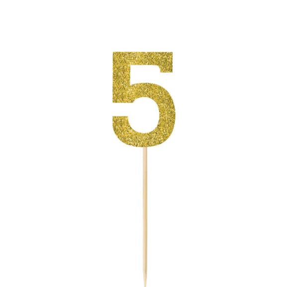 Pick Glitter Gold #5 4ct
