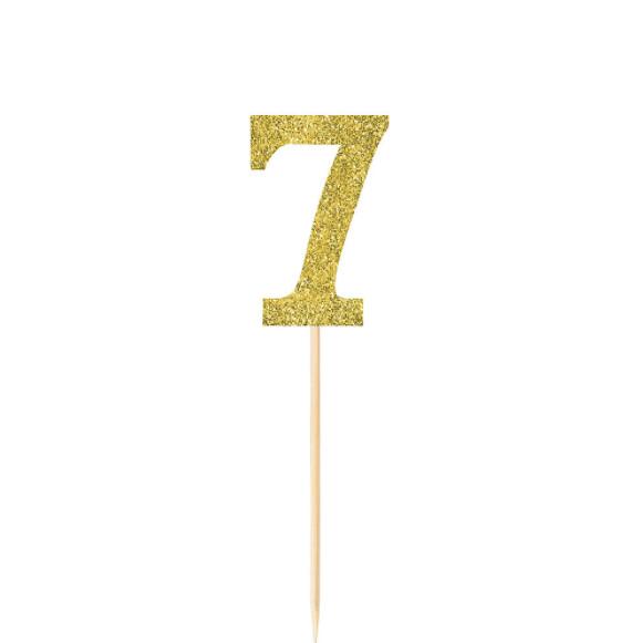 Pick Glitter Gold #7 4ct