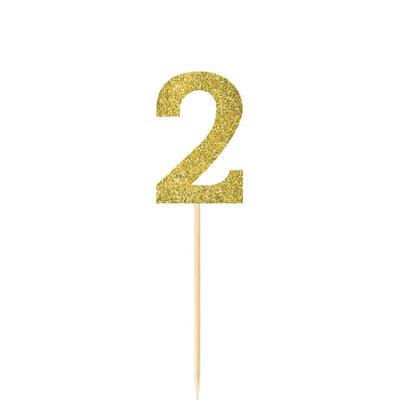 Pick Glitter Gold #2 4ct