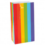 Mini Paper Bag Rainbow 12ct