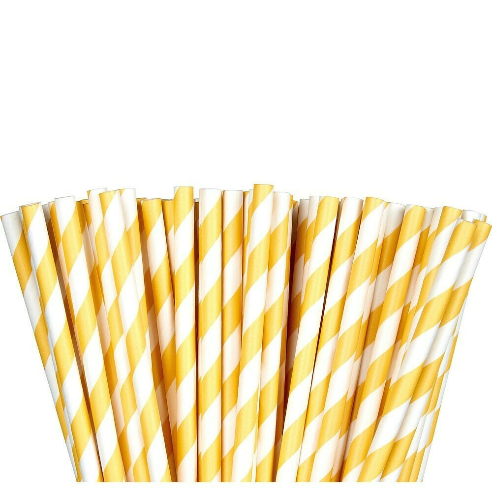 Paper Straw Yellow 24ct