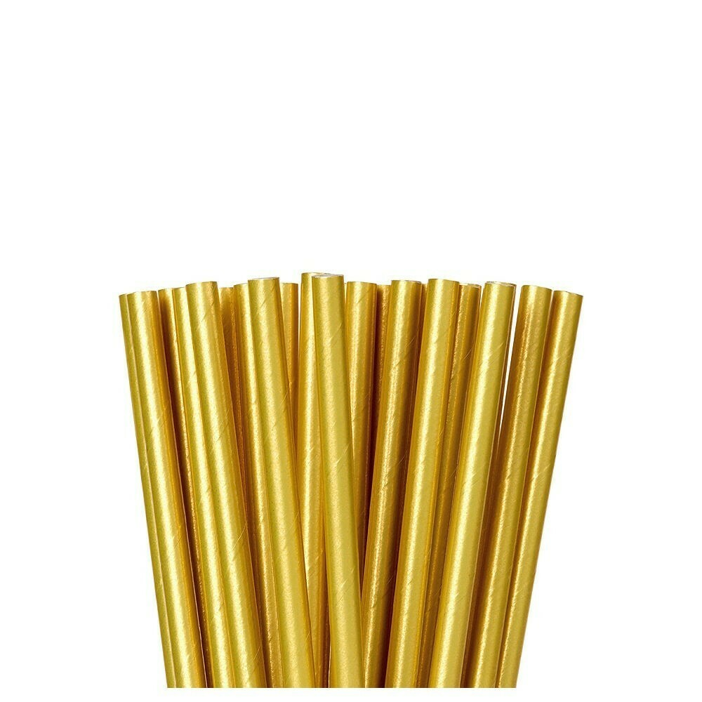 Paper Straw Solid Gold 24ct