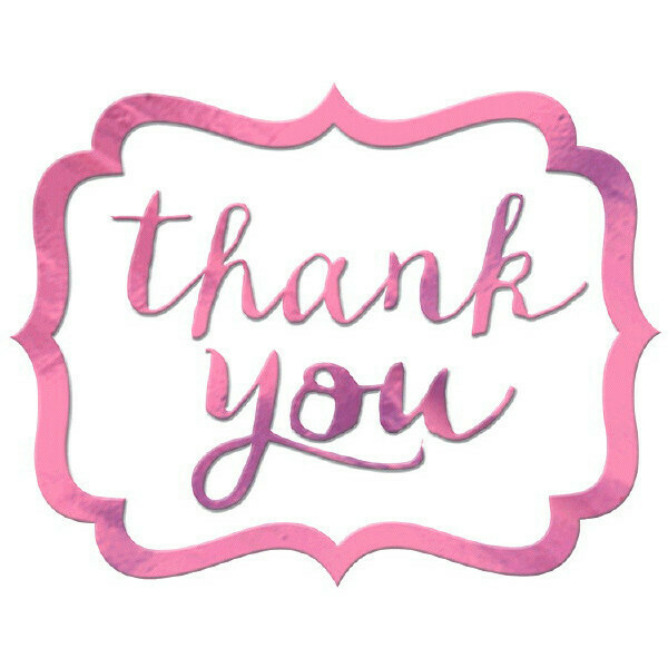 Thank You Stickers Pink 50ct