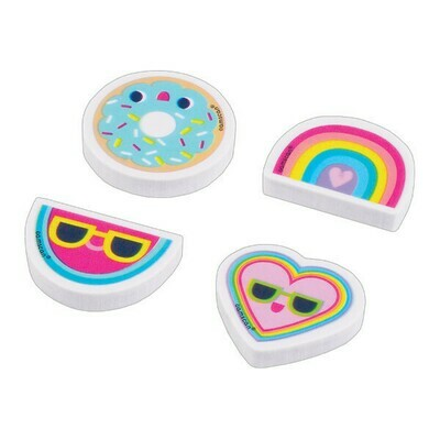 Trendy Girl Erasers 12ct