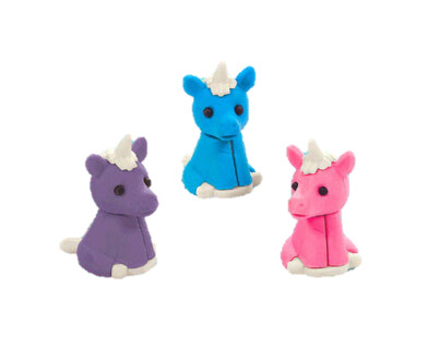 Unicorn Erasers 12ct