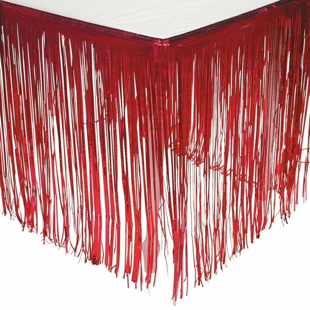 Foil Red Tableskirt