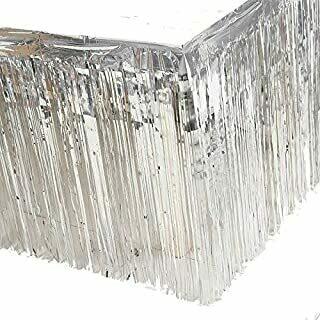 Foil Silver Tableskirt