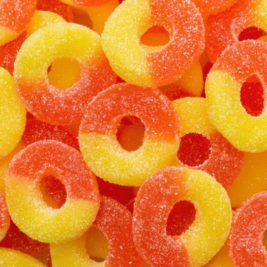 Jovy Peach Rings 5lb