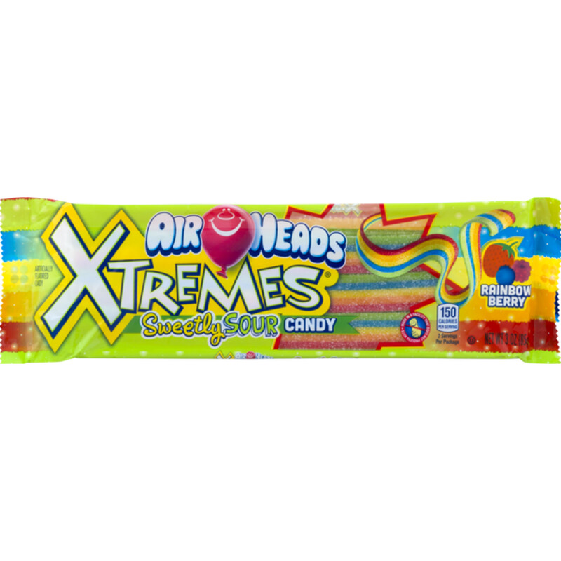 Air Head Xtreme Sour Belt Rainbow 1ct