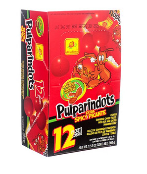 Pulparindo Dots Hot 12ct