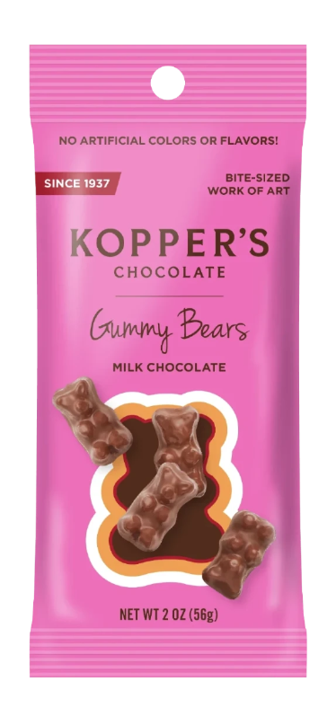 Koppers Chocolate Gummy Bears 2oz