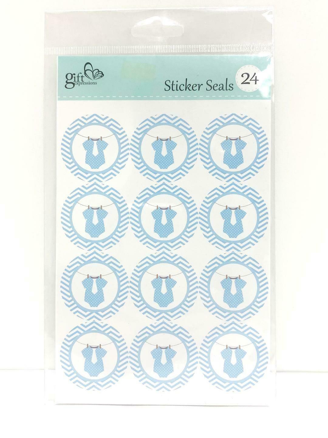 Boy Onesie Stickers 24ct
