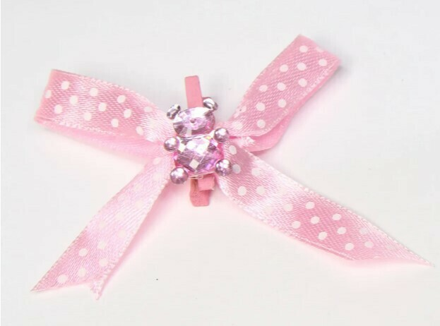Baby Bear w/clip Pink 6ct