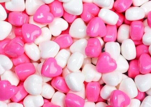 Cupid Hearts Pink and White 2.5lb