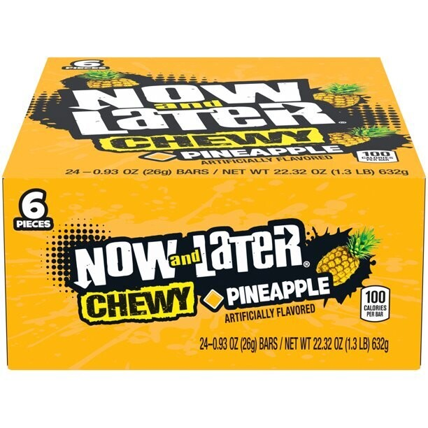 Now & Later Chwy Pineapple 24ct