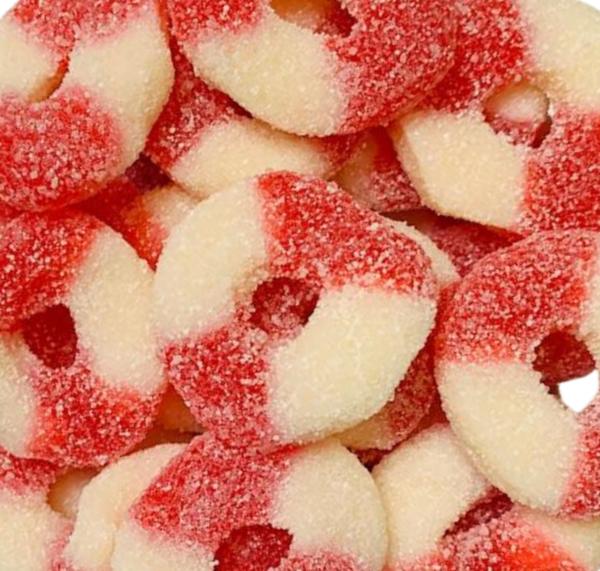 Fini Sour Strawberry Rings 2.2lb
