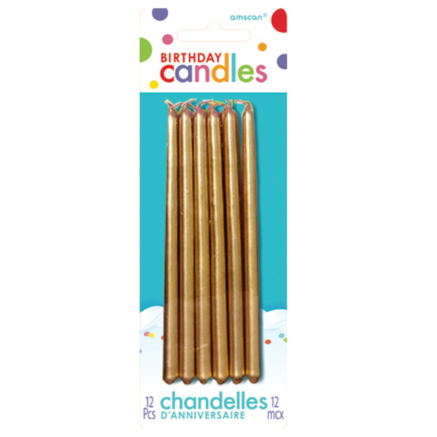 Birthday Candles Gold 12ct
