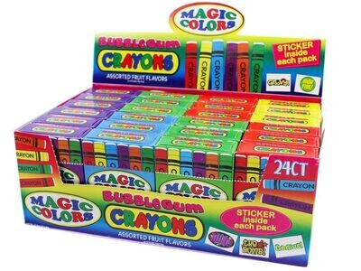 Magic Color Bubble Gum 24ct