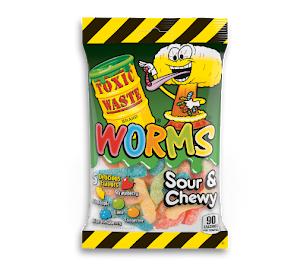 Toxic Waste Sour Worms 5oz