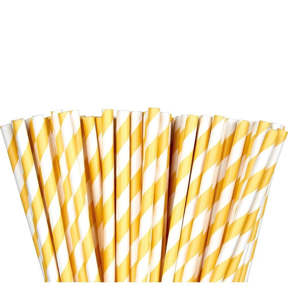 Paper Straw Yellow 24ct
