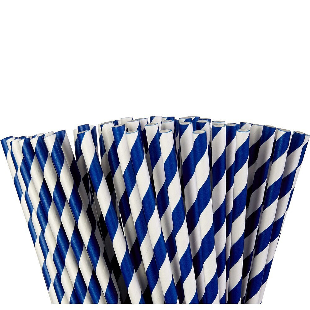 Paper Straw Royal Blue 24ct