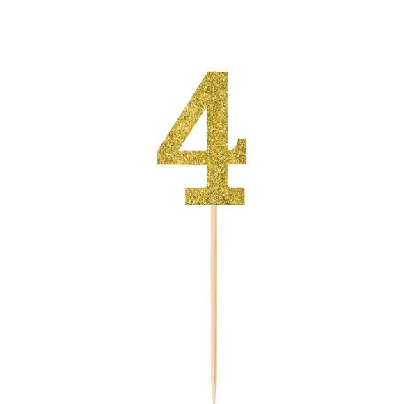 Pick Glitter Gold #4 4ct