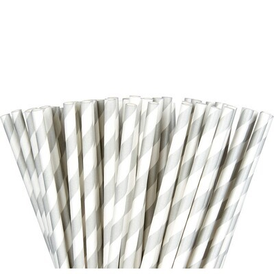 Paper Straw Silver 24ct