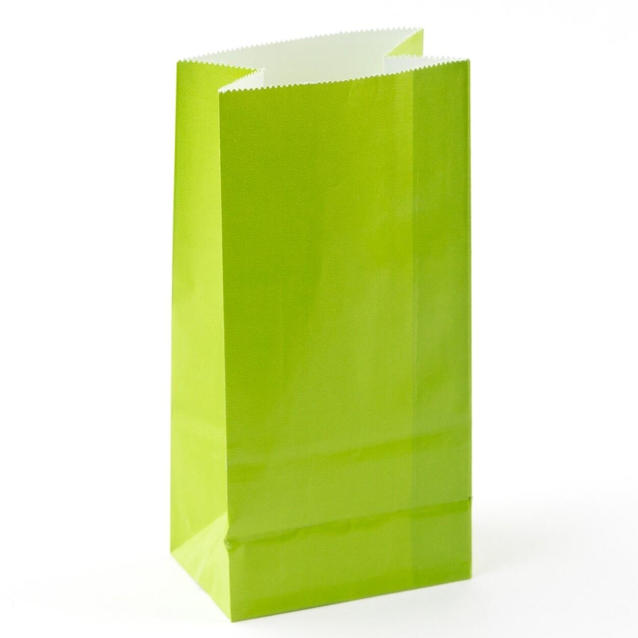 Mini Paper Bag Lime 12ct