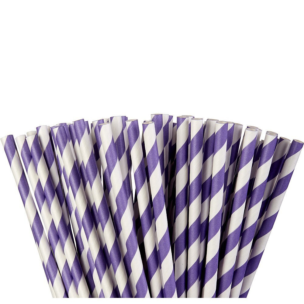 Paper Straw New Purple 24ct