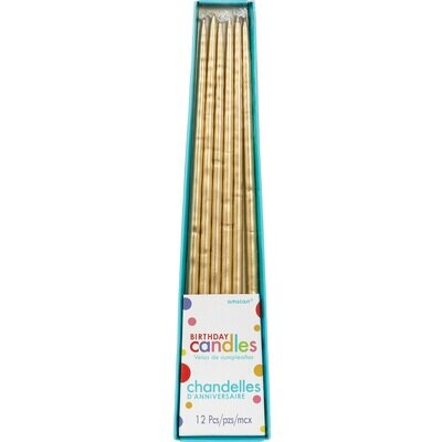 Taper Candles Gold 12ct