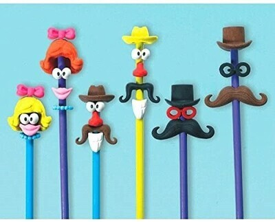 Character Erasers 6ct