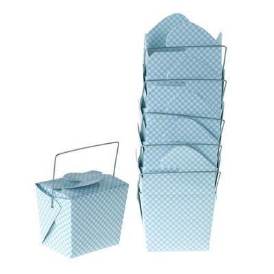 Take Out Box Checker Blue 6ct