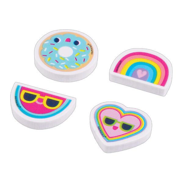 Trendy Girl Erasers 12ct