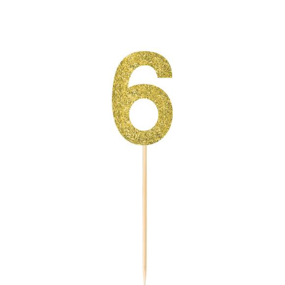 Pick Glitter Gold #6 4ct