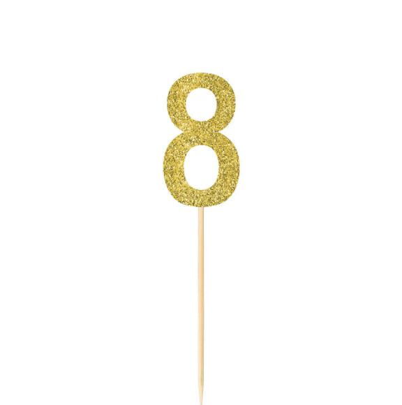 Pick Glitter Gold #8 4ct
