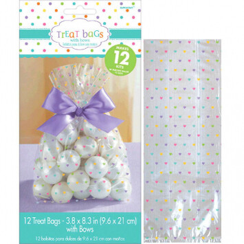 Treat Bags Rainbow with Bow 12ct