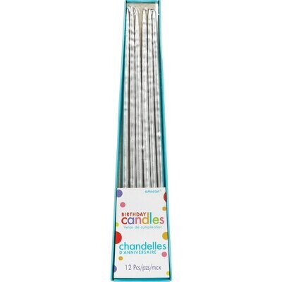 Taper Candles Silver 12ct