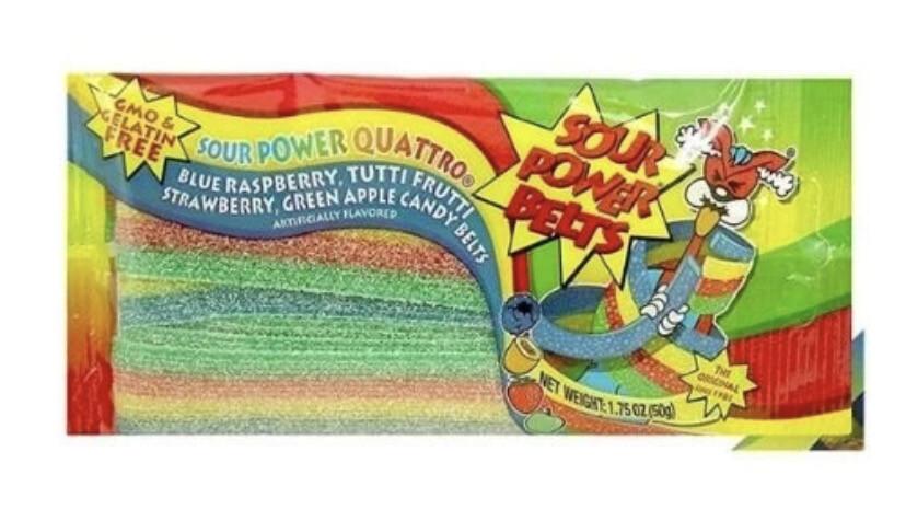 Sour Power Belts Rainbow 1.75oz
