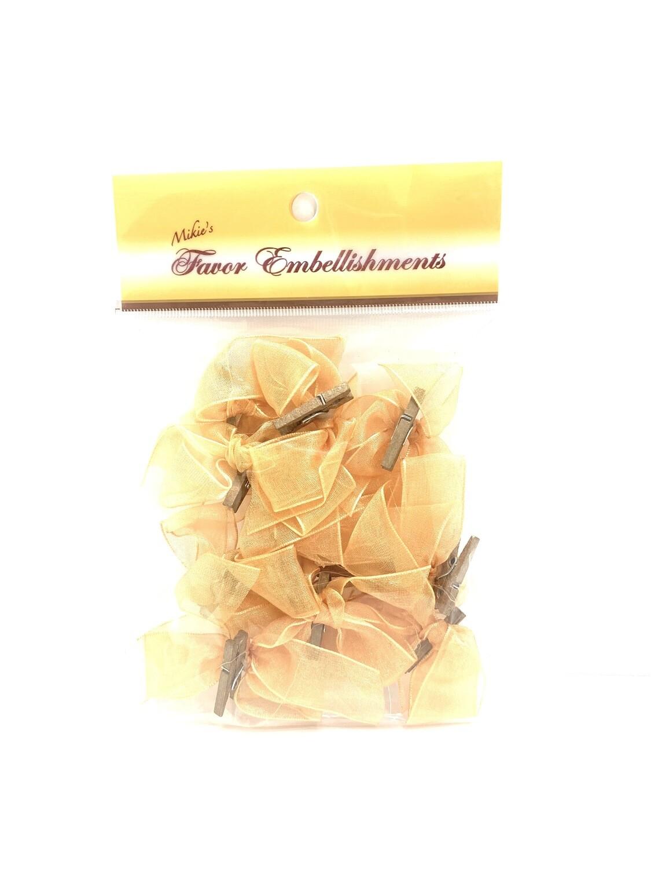Organza Bows Gold 12ct