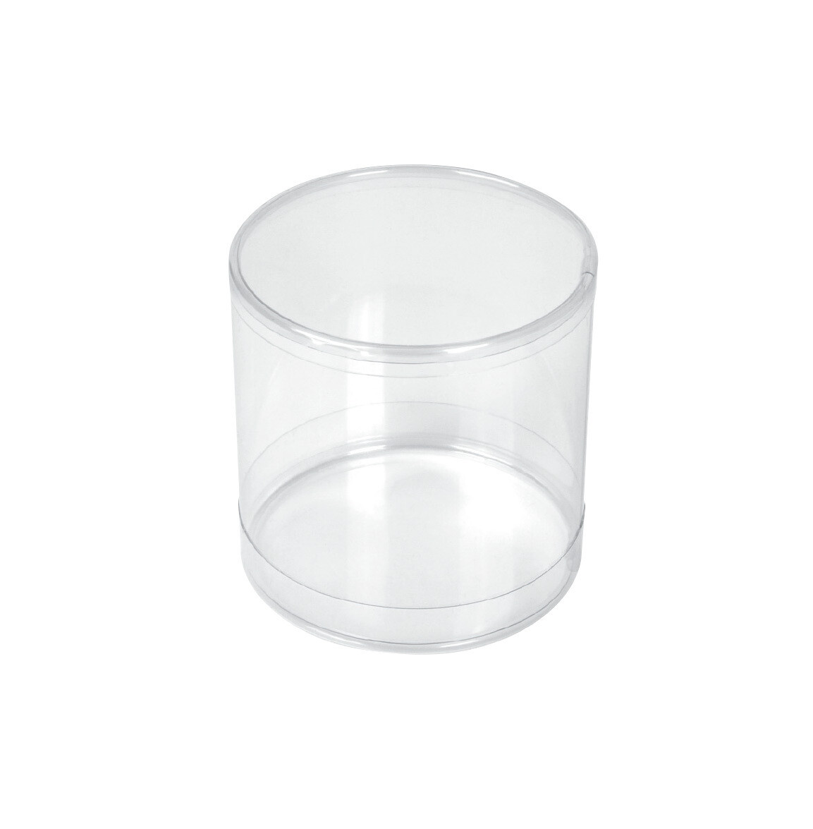 Cylinder PVC Container 2x2 Clear 12ct