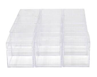 """Plastic Square Box 2"""""""