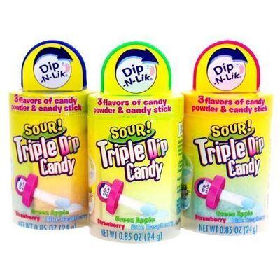 Sour Triple Dip Candy 1ct