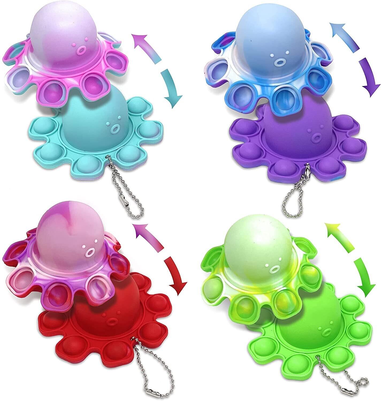 Octopus Pop It Keychain 1ct