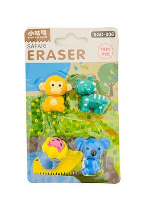 Safari Eraser 4ct