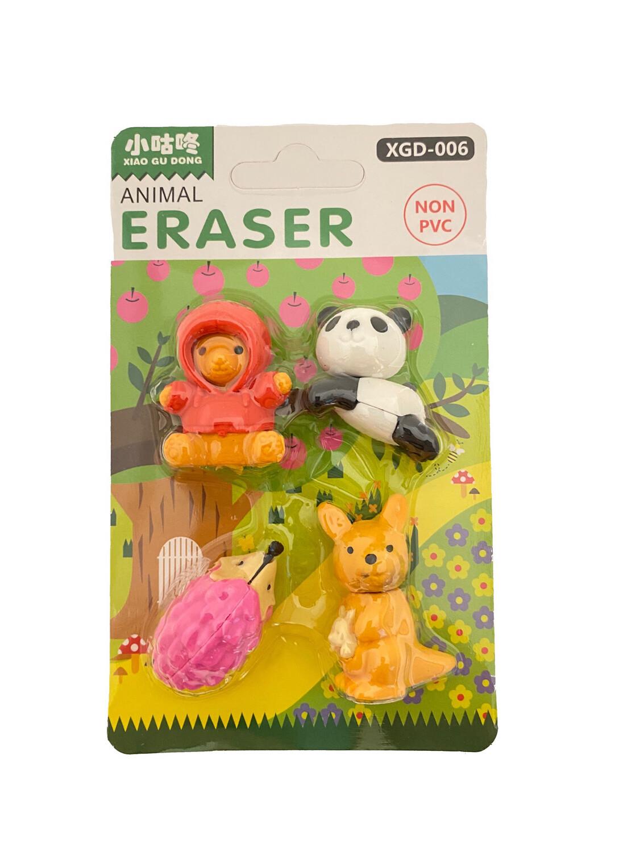 Animal Eraser 4ct
