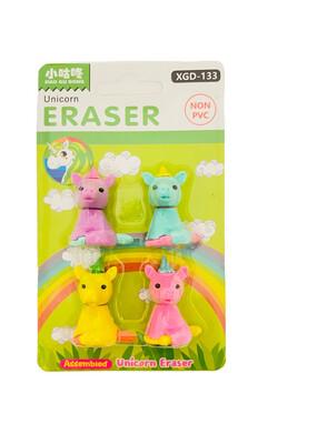 Unicorn Eraser 4ct