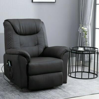HOMCOM® Massagesessel Massagestuhl Wärmefunktion und Massage Fernbedienung PU Braun 100 x 93 x 105 cm