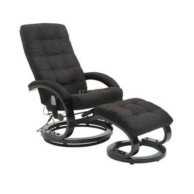 HOMCOM® Massagesessel TV Sessel mit Wärmefunktion schwarz