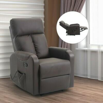 HOMCOM® Massagesessel mit Wärmefunktion Liegefunktion Braun