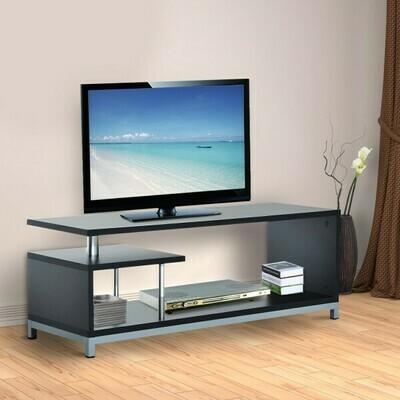 HOMCOM® Fernsehtisch TV Lowboard Sideboard Beistelltisch schwarz